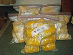 freezing corn on the cob....I have a dozen ears of corn I plan on doing this with this weekend!!!