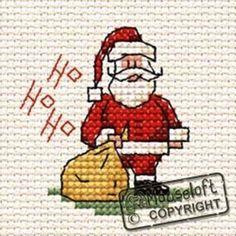 Mouseloft Mini Cross Stitch Kit  - Christmas Range - Ho Ho Ho Santa #Mouseloft