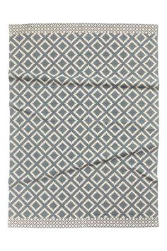Patterned rug: Rug in a cotton weave with a print-patterned front.