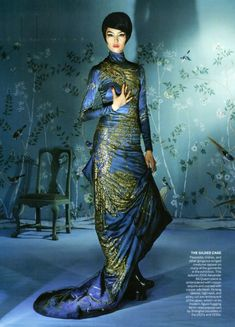 Fei Fei Sun in Alexander McQueen Couture 2006 by Steven Meisel for Vogue US May 2015 Steven Meisel, Fei Fei Sun, Haute Couture Style, Couture Week, Costume Chinoise, Asian Fashion, High Fashion, Chinese Fashion, 1930s Fashion
