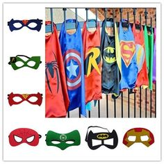 Children Super Hero Cape Mask Kids boys girls party Fancy Dress Costume Outfit  in Clothes, Shoes & Accessories, Fancy Dress & Period Costume, Fancy Dress | eBay!