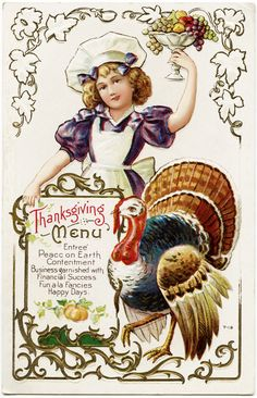 Vintage printable - Thanksgiving