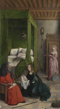 Juan de Flandes, The Birth and Naming of John the Baptist, 1496-99