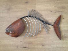 Fish Sculpture Tropical Coastal Beach  Metal  by SallenbachFishArt