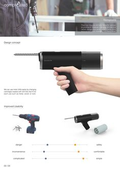 Auto revolver drill by JUNHO YOON, via Behance
