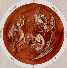 Three of Swords - Circle of Life Tarot by Maria Distefano