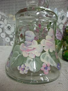A Glass Covered Storage Canister Jar Hand by FolkArtByNancy, $12.00