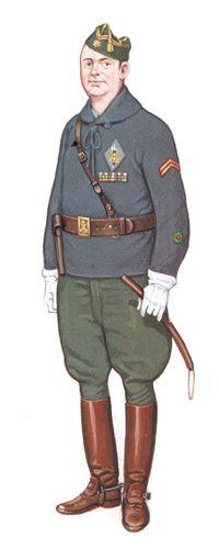 Comandante, Octubre de 1934, Legion Espanola