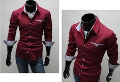 Men's Button Shirt with Pocket Details AWESOME!!!