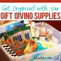 Gift Giving Organization #howdoesshe #giftgiving #organization howdoesshe.com