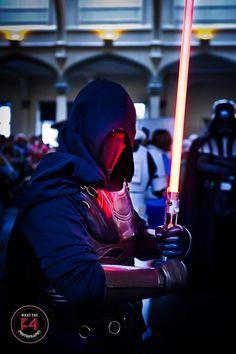 A cosplayer dressed as a dark Jedi at the Bristol Comic Expo.   www.facebook.com/wtf4photography Bristol, Deadpool, Badass, Darth Vader, Star Wars, Cosplay, Superhero, Facebook, Comics