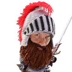 ca6aa8c7790 Barbarian Knight. Beard BeanieKnit ...