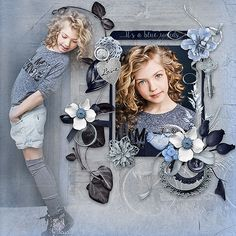 Blue words by Celinoa Design http://digital-crea.fr/shop/index.php… Photo Karina Egorova - Lovely Karina Use with Permission