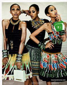 Anasi Mali, Jasmine Tookes and Jourdan Dunn