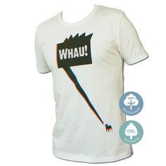 WhauWhau - 3D Optik So wie man in den Wald ruft, so schallt es hinaus!  STYLE: Schmaler geschnittenes Shirt mit zertifizierter, umweltfreundlicher Produktion.