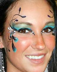 peacock face painting