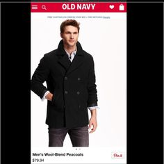 Men's Old Navy Pea Coat. LIKE NEW! Used once This coat was purchased for a job interview! My boyfriend is more into the sporty look Nike and north face! But I LOVE this coat!! He only wore it once! It is in Like new condition! Old Navy Jackets & Coats