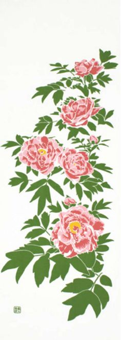 Japanese Tenugui cotton towel fabric. Spring floral pattern / pink peony design. High quality tenugui fabrics made of soft 100% cotton cloth and hand dyed by Japanese master dyers.  [ H o w T o U s e ] * towel * washcloth * dishcloth * headband / bandanna * scarf * wall hanging (like a painting or textile) * wrapping * place mat * table runner / center piece * book jacket, and... MORE! Enjoy your own unique way!  [ M a t e r i a l ] Cotton 100%  [ D i m e n s i o n s ] 35×100cm...