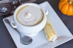 Pumpkin Pie Soup... A sweet soup for dessert?  I think I might have to try this!