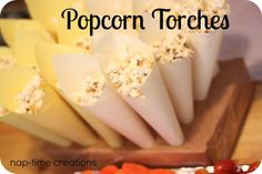 Popcorn Torches - a must.