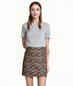 Falda corta | Estampado de leopardo | Mujer | H&M MX