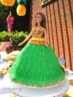 Hawaiian Luau Barbie - probably the only one I didn't make for my daughter - she loved doll cakes growing up.
