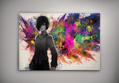 Hey, I found this really awesome Etsy listing at https://www.etsy.com/listing/201635703/tokyo-ghoul-touka-anime-watercolor-print
