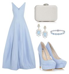 """""""Light Blue Princess"""" by tania-alves ❤ liked on Polyvore featuring Halston Heritage, La Regale, Cara and Belk & Co."""