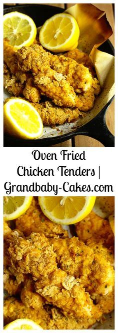 Diet Plan To Lose Weight : Oven Fried Chicken Tenders Perfectly Crispy and Crunchy just like they are fri Oven Fried Chicken Tenders, Fried Chicken Recipes, Turkey Recipes, Dinner Recipes, Rib Recipes, Dinner Ideas, All You Need Is, Cooking Recipes, Healthy Recipes