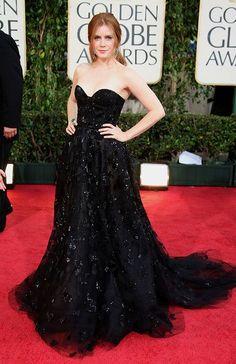 6. A atriz Amy Adams usa De La Renta na premiação do Globo de Ouro 2009
