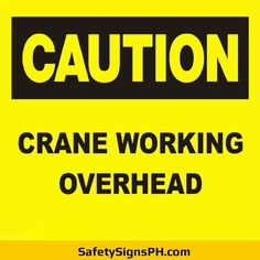 Alert workers and prevent accidents with our customized crane safety signs. Safety Slogans, Safety Posters, Construction Safety, Danger Zone, Workplace Safety, Poster On, Crane, Philippines, Signs
