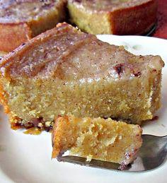 Jamican Cornmeal Pudding Cake
