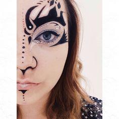 Hallowed makeup: Alien queen.  Like me on Facebook http://facebook.com/littleredmakeup - http://littleredmakeup.com