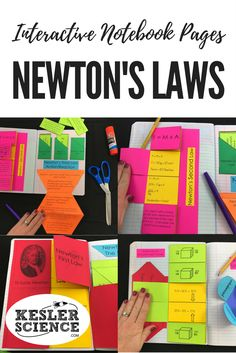 Force and Motion bundle includes 3 foldable worksheets for Newton's Laws, practice problems, and a card sort manipulative game. Turn science notebooks into a fun interactive activity, and hands-on learning experience for your upper elementary or middle sc