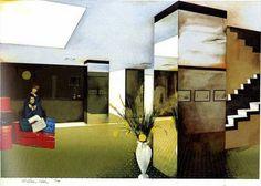 Lobby by Richard Hamilton (1984) #pop art #art... Richard Hamilton Artist, Modern Art, Contemporary Art, Pop Culture Art, Learn Art, Art Database, Metropolitan Museum, Collage Art, Art History