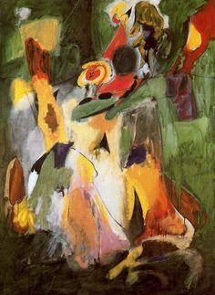 Gorky Waterfall 1943. Arshile Gorky was an Armenian American painter, who had a seminal influence on Abstract Expressionism. As such, his works were often speculated to have been informed by the suffering and loss he experienced of the Armenian Genocide.