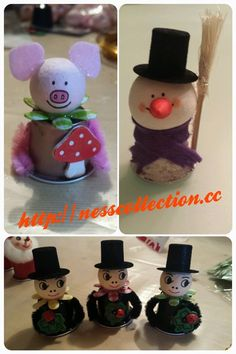 Winter-Highlight 2014 - made by NessCollectin. Solo Cup Crafts, K Cup Crafts, Dyi Crafts, Crafts To Make, Festive Crafts, Christmas Crafts, Christmas Ornaments, Silvester Diy, Diy Accessoires