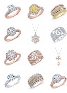 Gold White Gold Rose Gold & Rough, Pink, Yellow & Black Diamond Fashion Right Hand Anniversary Rings see our large selection at Crescent Jewelers illinois Diamond Rings, Diamond Jewelry, Black Diamond, Fashion Rings, Fashion Jewelry, White Gold, Yellow Black, Right Hand Rings, Gold Jewellery Design