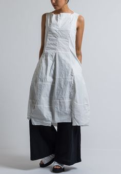 Rundholz Patchwork Tulip Dress in Off White Beautiful Outfits, Cool Outfits, Fashion Outfits, Oska Clothing, Tulip Dress, Dress Making Patterns, Patchwork Dress, Ruched Dress, White Fashion