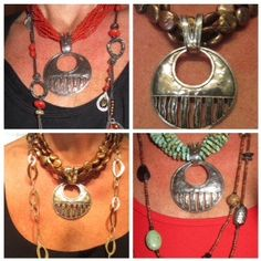 All of these looks with retired big pendant S1515.  Love the versatility of this piece