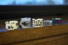 More Shrinky Dink rings...I really need to get some shrink plastic and try these!