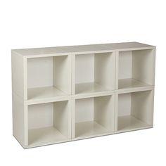 Way Basics 6 Piece Stackable Modular Storage Cubes - White - Way Basics - Babies…