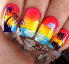 rainbowfashion.quenalbertini: Nail art design