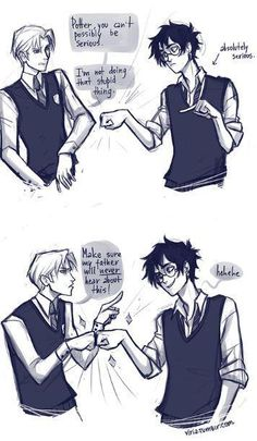 Harry and Draco :) in an au they could be friends