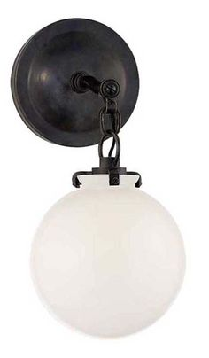 $315 US - KATIE SMALL SCONCE WITH GLOBE GLASS