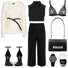Belted by fashionlandscape on Polyvore featuring Mode, Victoria Beckham, Isabel Marant, Joseph, Yves Saint Laurent, Larsson & Jennings and Nails Inc.
