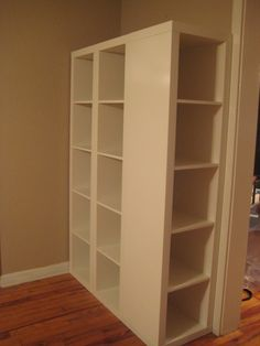 This Ikea hack will show you how to get out of a simple expedition / Kallax R . - - This Ikea hack will show you how to get out of a simple expedition / Kallax R . Ikea Expedit Shelf, Ikea Regal Expedit, Ikea Shelving Hack, Ikea Kallax Hack, Ikea Storage, Storage Units, Ikea Units, Best Ikea, Ikea Furniture