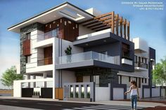 Seven Common Mistakes Everyone Makes In Exterior Modern Home Design - exterior modern home design 3 Storey House Design, Bungalow House Design, House Front Design, Modern House Design, Modern Architecture House, Architecture Design, Amazing Architecture, Modern Bungalow Exterior, Latest House Designs