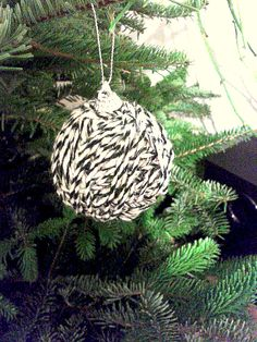 Ornament made with wool