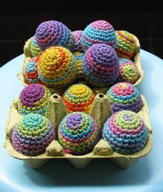 εїз Lady Crochet: Easter Eggs. I just love all of the Easter pastel colors!